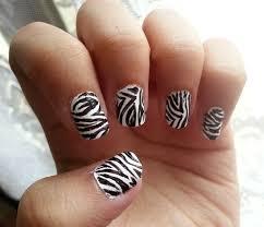 Nail Art Design Animal Print Zebra Stripe Nail Art How To Paint An Animal Print Nail
