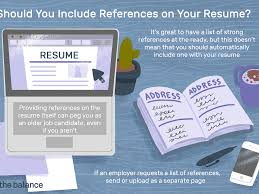 Reference Pages For Resume How To List References On A Resume