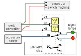 bistable dpdt latching relay screw terminals dc snap turnout application