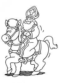 Kleurplaat Paard Sinterklaas Peuters Kleurplaat Sinterklaas