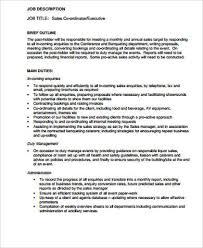Sales Executive Job Description Retail Sales Job Description Sample 10 Examples In Word Pdf