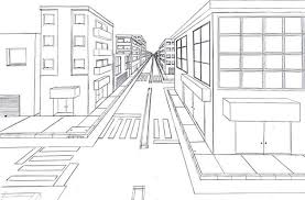 perspective drawings of buildings. 1 Point Perspective City Drawings Of Buildings N