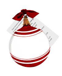 Ornament Die Cut Card Invitation