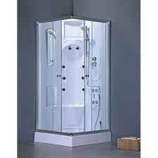 Heirloom Complete Shower Room (Tray/Tub, Walls, Sliding Doors, Shower Head,  and Massagers)