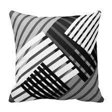 black and white accent pillows.  Accent Black And White Abstract Stripe Throw Pillow For Accent Pillows E