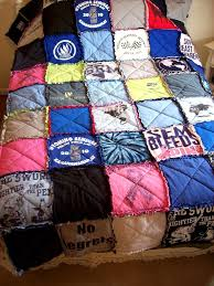 76 best Quilts-tshirt and rag quilts images on Pinterest | Cards ... & TShirt Quilt T-Shirt Memory Blanket Tee Quilt Custom Made From Your Own  Tees Queen Size Coverlet Spread Graduation Gift Recycled Tee Quilt Adamdwight.com