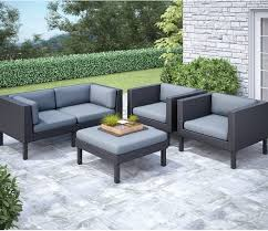 oakland piece patio conversation set – black  the brick