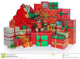 Royalty-Free Stock Photo. Download Christmas Present Sack And Gifts.