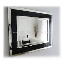 framed modern mirror. Art Deco Modern Black Clear Wall Mirror 91 X71 Cm Ee035 Regarding Frame Decorating Framed E