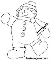 Small Picture Printable Coloring Pages Snowman Coloring Pages