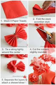 How To Make A Beautiful Flower With Paper How To Host A Perfect Summer Barbecue Make Paper Towel Flowers