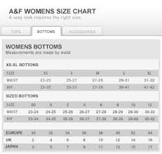 Womens Jeans Size Chart Sizing Chart Choisir Latelier