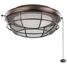 kichler led industrial mesh light kit in oil brushed bronze ceiling fan light kits ceiling fans