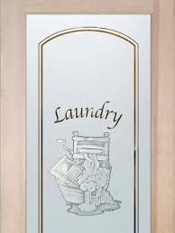 laundry room doors with glass etching wringer by sans soucie
