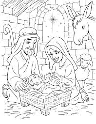 Printable Nativity Coloring Pages Coloring Pages Nativity Free