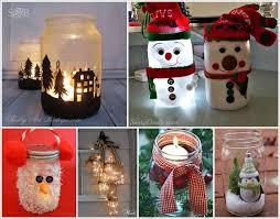 Mason Jar Holiday Decorations Mason Jar Christmas Decorations Can Make Yourself Diy Crafts DMA 72