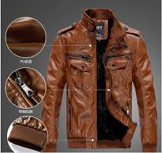 brown leather jacket aliexpress com 0027s locomotive leather jacket coat thickening fur outerwear