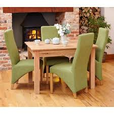 mobel solid oak narrow. Mobel Solid Oak Furniture Small Dining Table And Four Green Chairs Set Narrow