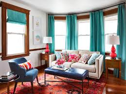 Turquoise Curtains For Living Room Colorful And Cozy Living And Dining Room Makeover Hgtv