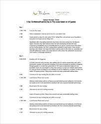 Event Itinerary Template Cycling Studio