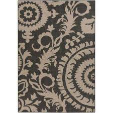 big pine black 2 ft x 5 ft indoor outdoor area rug