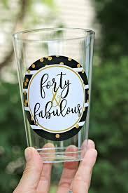 las 40th birthday decorations 40th party cups plastic cups wine cups beer cups forty and fabulous black and gold