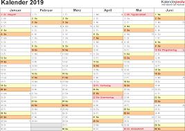 Excel Kalender Kalender 2019 Zum Ausdrucken In Excel 16 Vorlagen Kostenlos