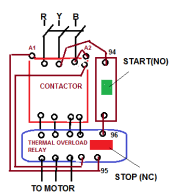 direct on line starter electrical notes & articles Mcb Wiring Diagram Pdf circuit of starter will be break at stop button and supply of relay coil is broken, plunger moves and close contact of main contactor becomes open, mcb wiring diagram pdf