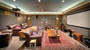 dark media room. Basement Media Room Carpet Dark Gray Home Theater Rustic .