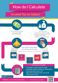 calculating income tax on salary infographic