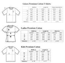 Tshirt Usa Europe Size Chart