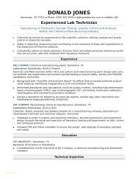 Medical Resume Templates With Midlevel Lab Technician Resume Sample