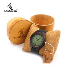 online buy whole watches brands men from watches brands bobo bird f03 ebony wood watches green wood face real leather band mens top brand