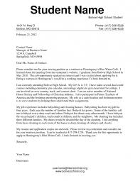 Sample Cover Letters For College Students Letters Font Bunch Ideas