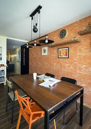 industrial style home office. home office industrial brick wall vintage drop lamp style l