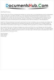 Format For Termination Letter Termination Letter For Student DocumentsHubCom 16