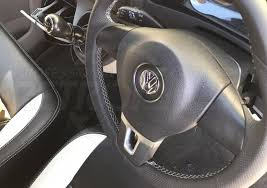 vehicle parts accessories for vw transporter t5 black perforated leather steering wheel cover grey stitch steering wheels boss kits