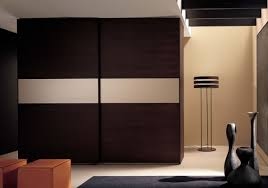 Modern Bedroom Wardrobes Bedroom Modern Bedroom With Rectangle Brown High Gloss Wood