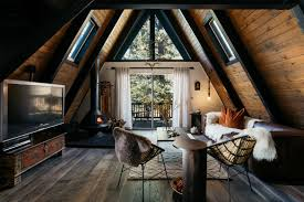 Proving that a little sweat and ingenuity makes for great design, this  formerly outdated A-frame cabin in Big Bear, California underwent a major  ...