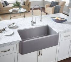 blanco farmhouse sink. Perfect Sink Blanco Ikon Kitchen Sink  A Dark Dramatic Sink Adds Unexpected Edge  Available In Seven Colours This Is The Firstever Apronfront Made Ou2026 With Farmhouse