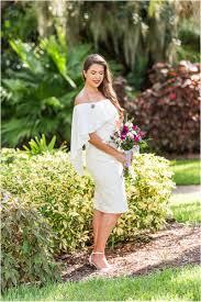 bride glowing at florida tech botanical garden wedding