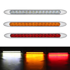 Slim Led Trailer Lights 10 30v 15 Led Ultra Slim Trailer Truck Caravan Tail Light Stop Reverse Turn Signal Indicator Light