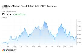 Mexican Peso Exchange Rate Chart Peso Plunges Vs The Us Dollar After Trump Announces Mexican