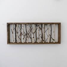 white birch forest wall art - 30 x 12, birch branch decor, birch log