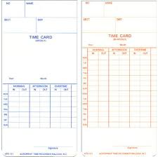 Bi Weekly Time Card Acroprint Atr121 Weekly Bi Weekly Time Cards