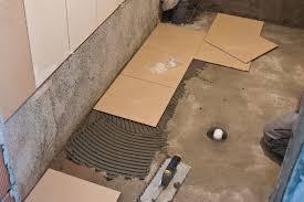 tips on installing tile floor in bathrooms