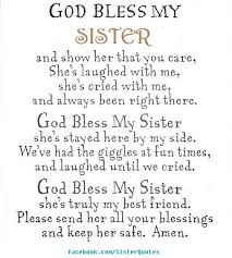 Prayer For My Sister Quotes Amazing Prayer For My Sister Quotes Best Quotes Ever