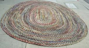 large wool multi colored oval braided fantastic 8 1 2 x rugs round rug id f