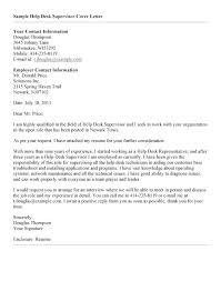 Help Desk Cover Letter Entry Level Under Fontanacountryinn Com