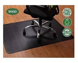 office chair mat for hardwood and tile floor black anti slip under